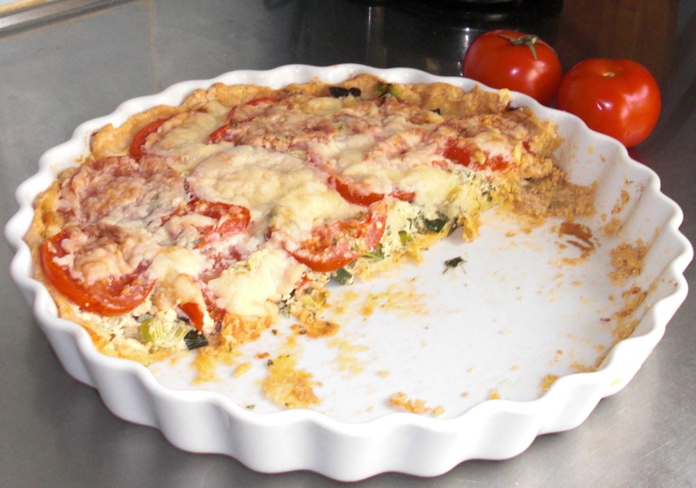 Tomat och basilika paj