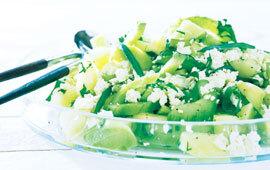 gurka och melonsallad