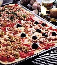 Pizza för hela plåten