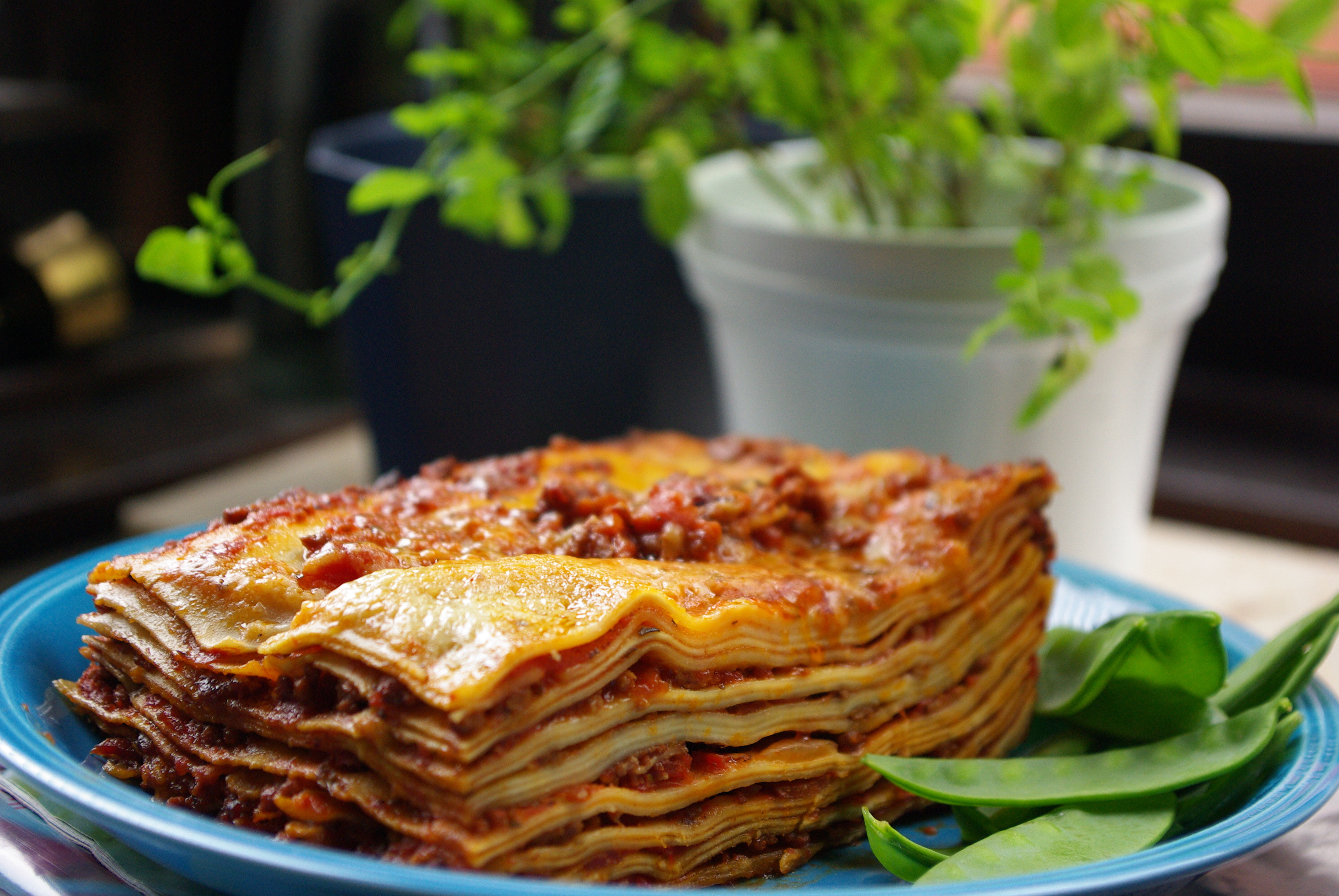 Mustig lasagne med bacon
