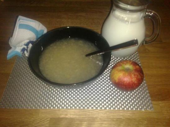 Snabb äppelkräm..