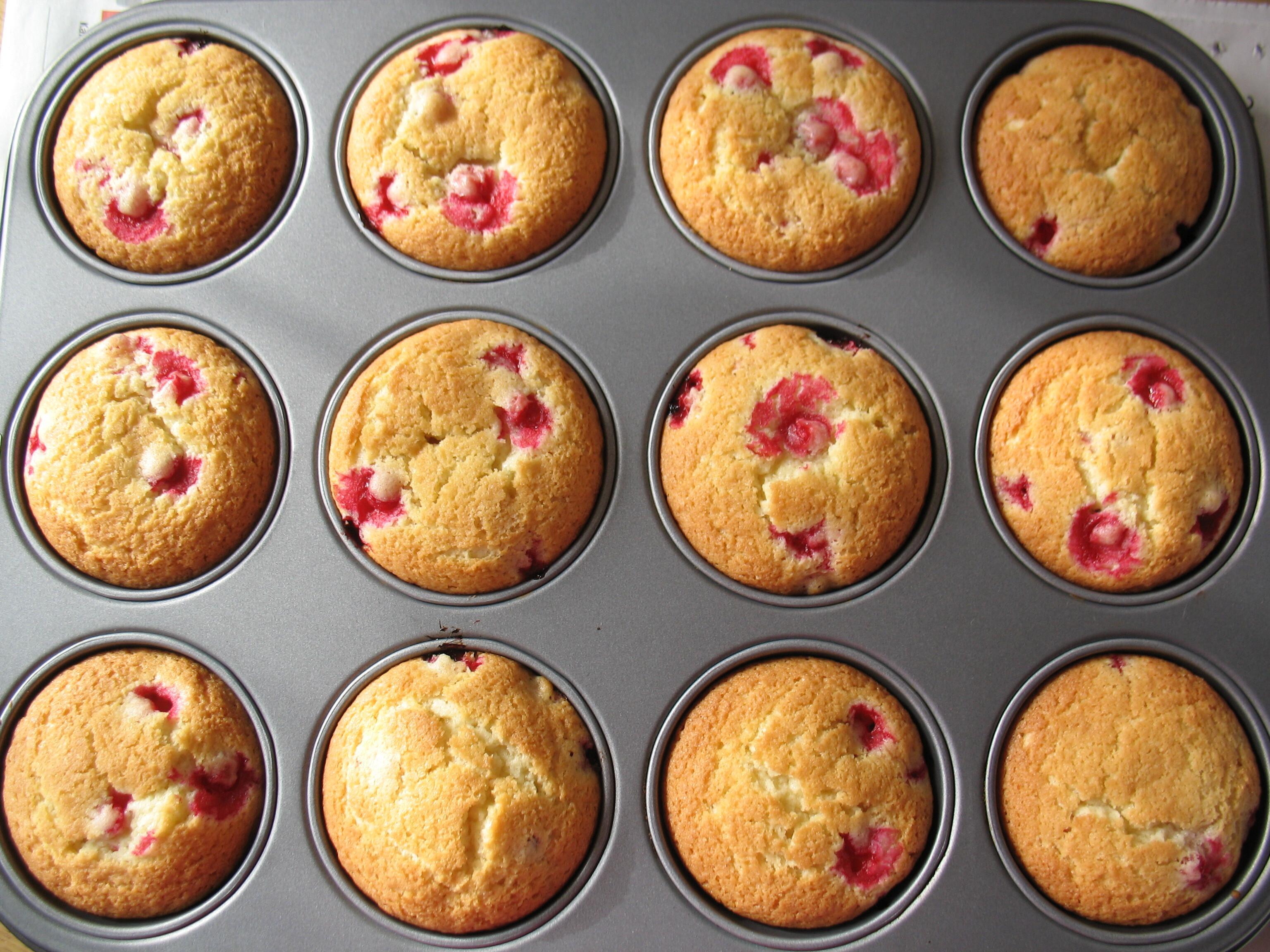 muffins röda vinbär