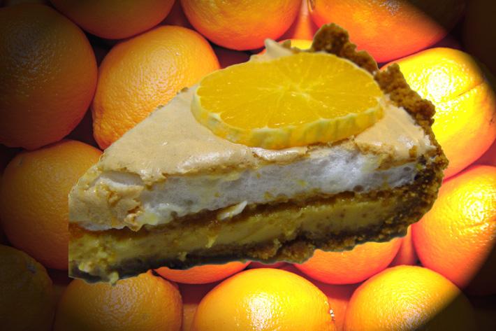 Apelsin-och marängpaj från Florida
