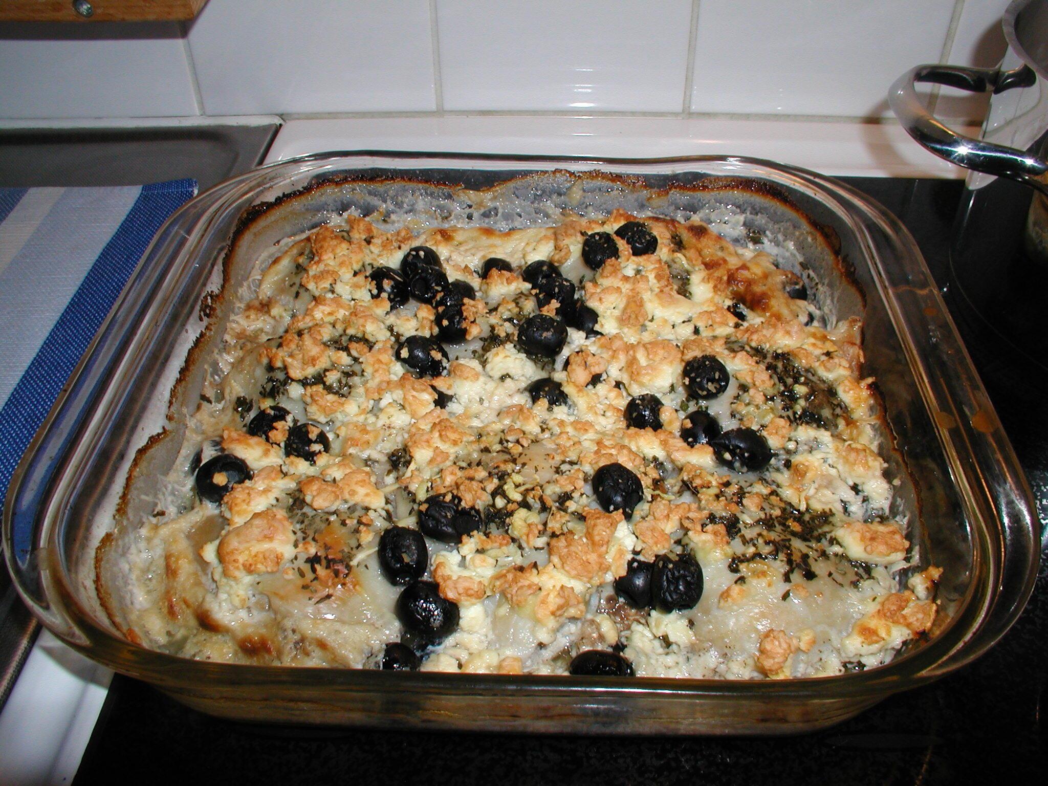 kyckling med oliver,fetaost