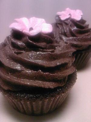 Mörk chokladtryffel cupcakes