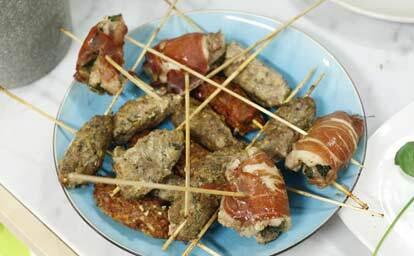 Köttfärsspett med 3 olika kryddningar
