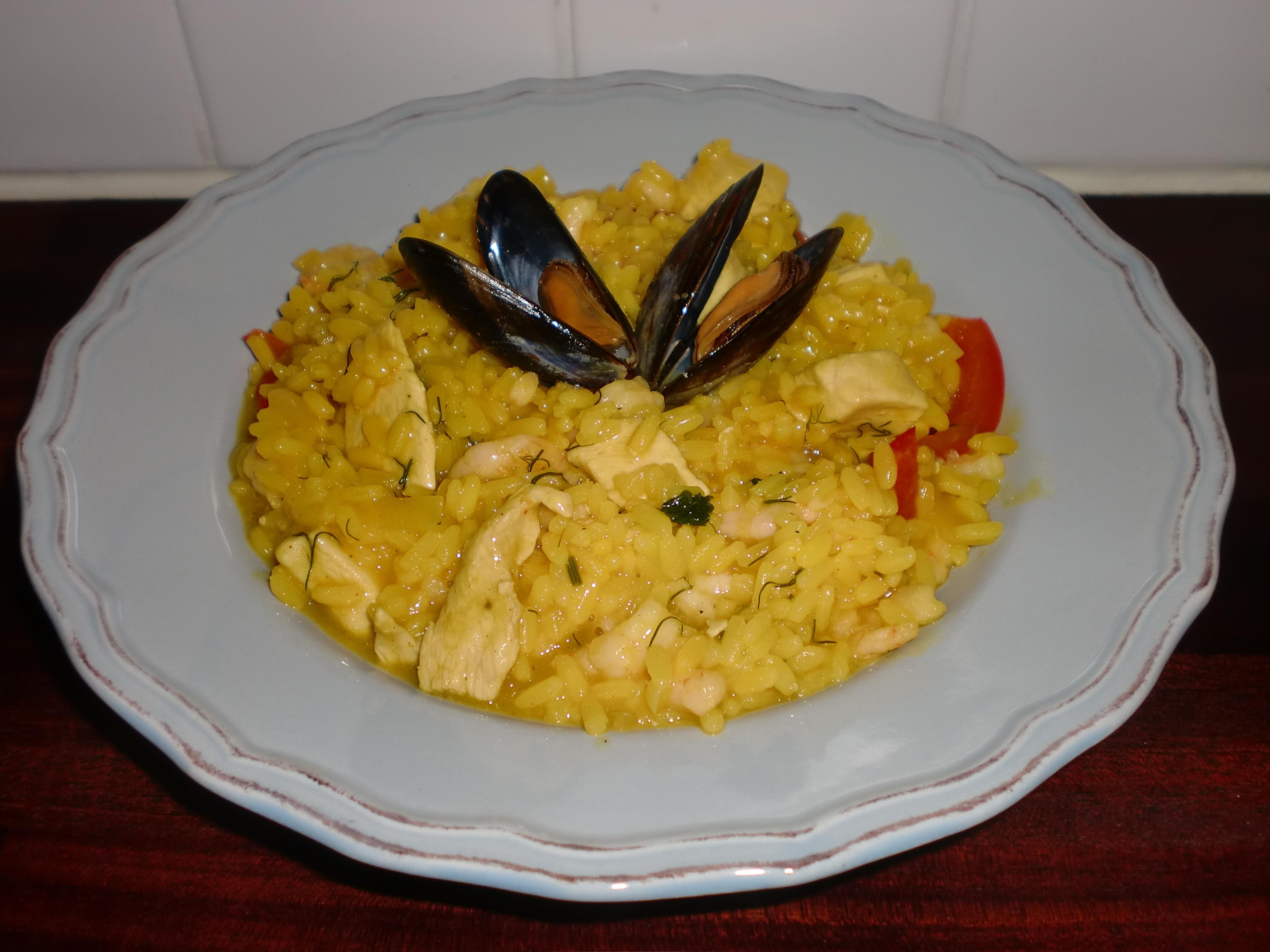 Paella-risotto ..