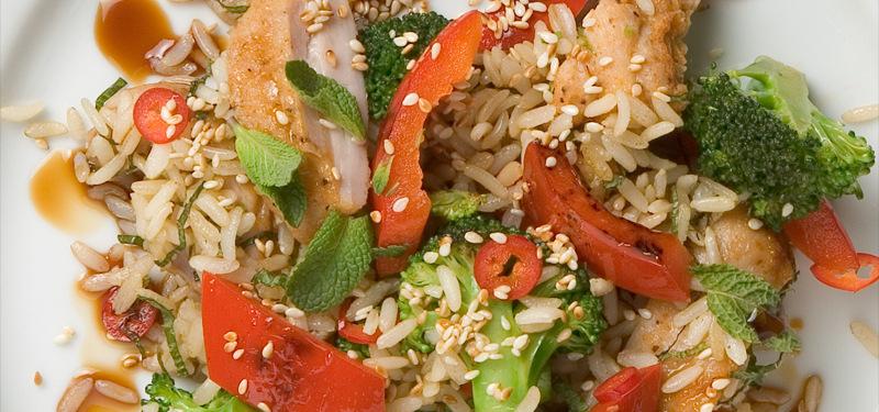 Stekt ris med b..