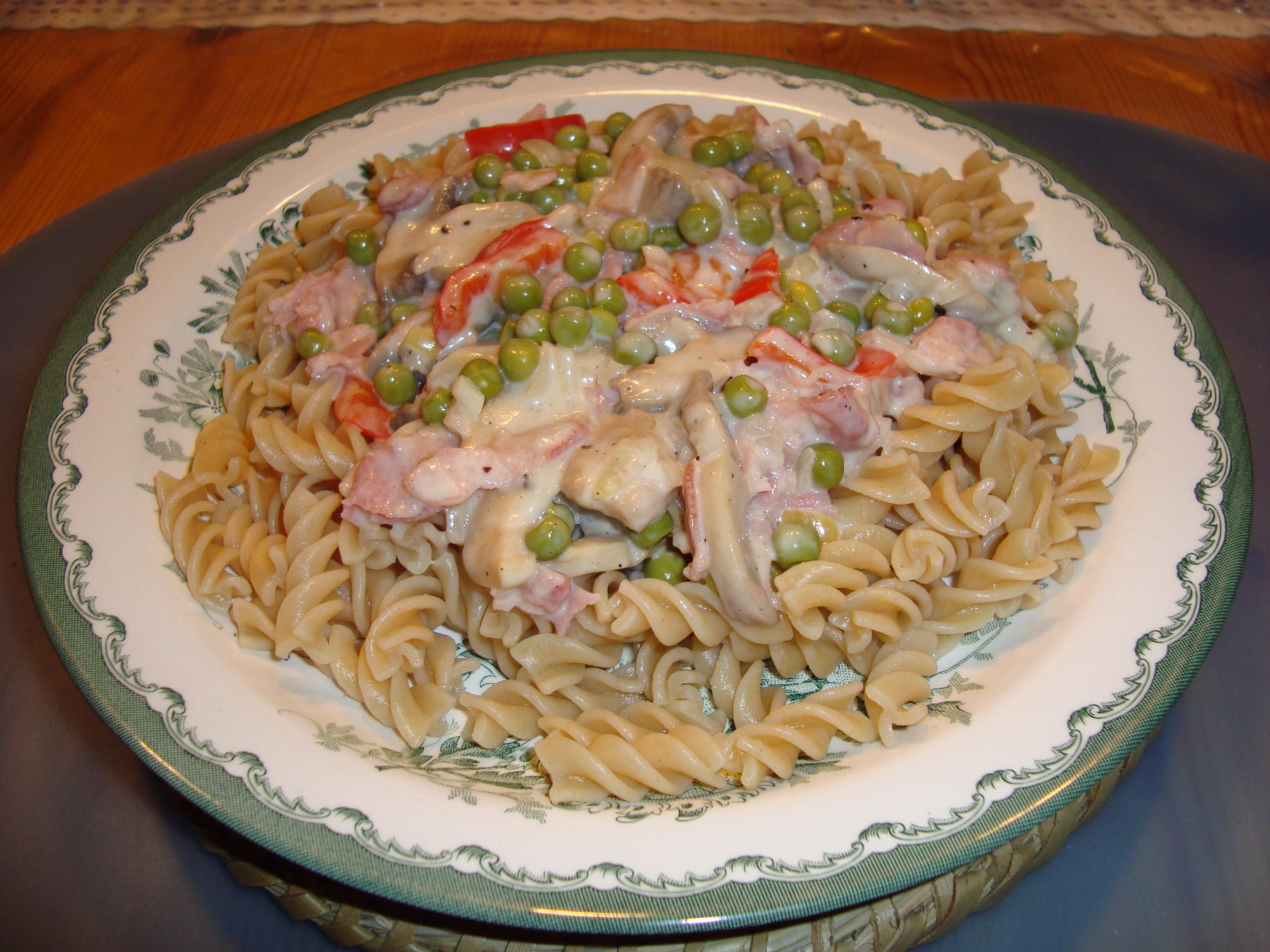 Enkel baconsås till pasta