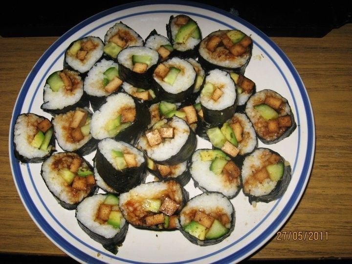 Vegetarisk sushi med tofu