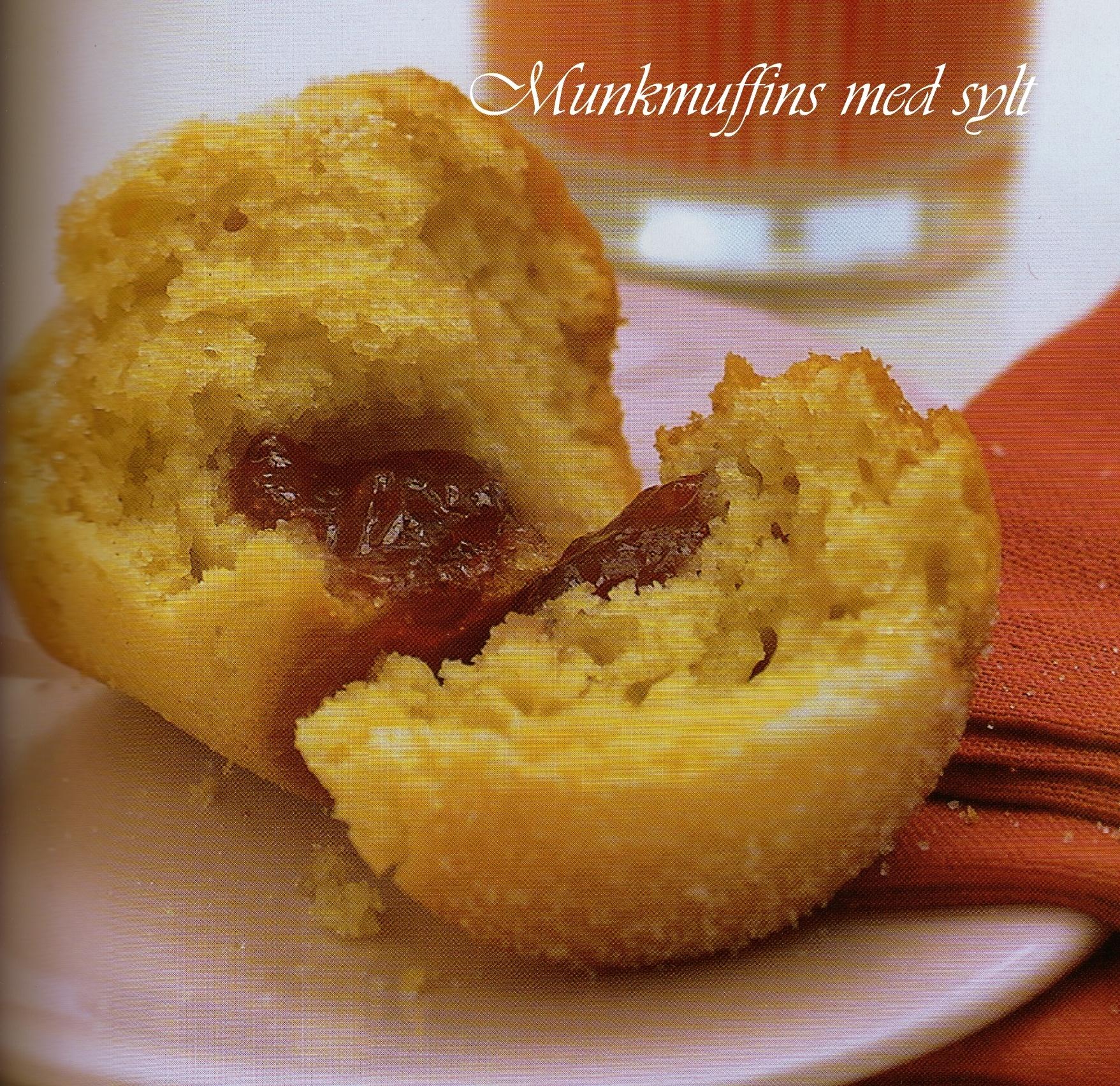 muffins med jordgubbssylt