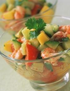 skaldjurscocktail med avokado