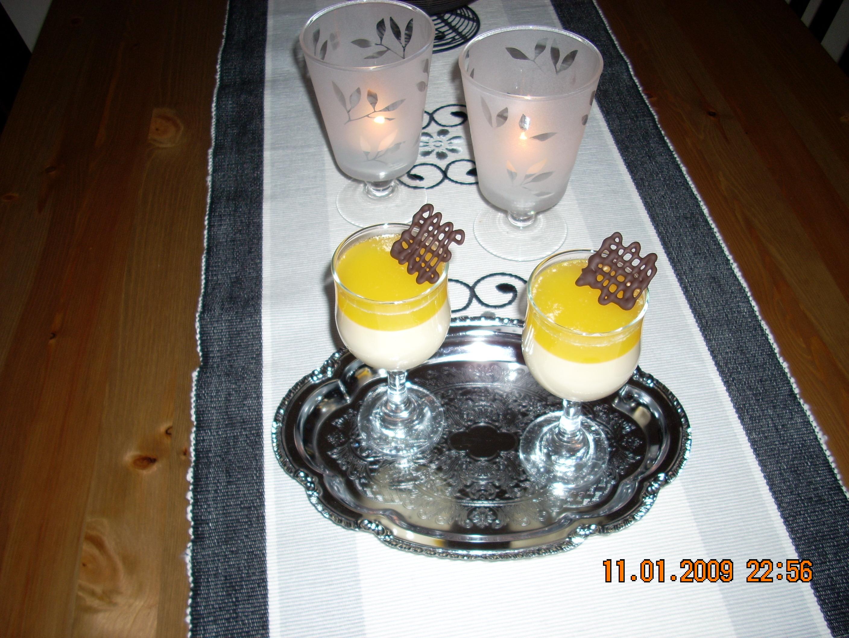 Pannacotta med apelsingelé