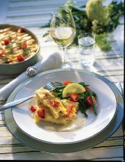 Laxfylld cannelloni med vitvinssås