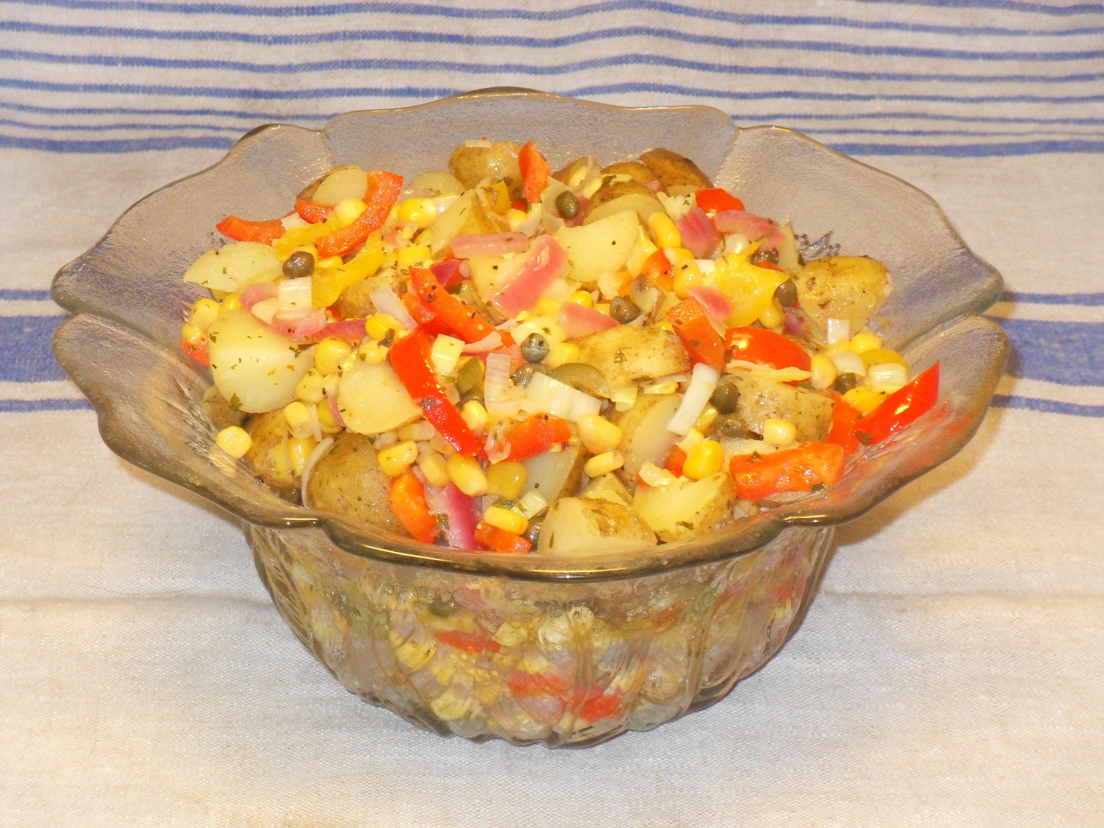 somrig potatissallad med kapris