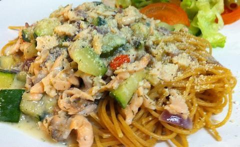 Emmas Lax & Zucchini Pasta