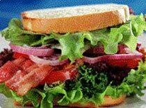 Bacon, lettuce and tomato smörgås