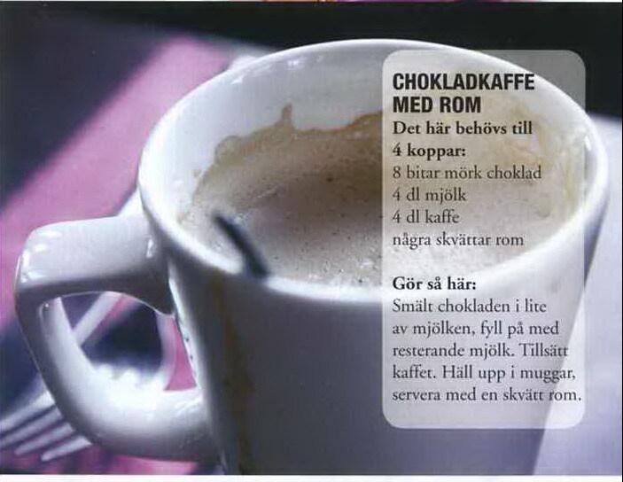 Chokladkaffe med rom