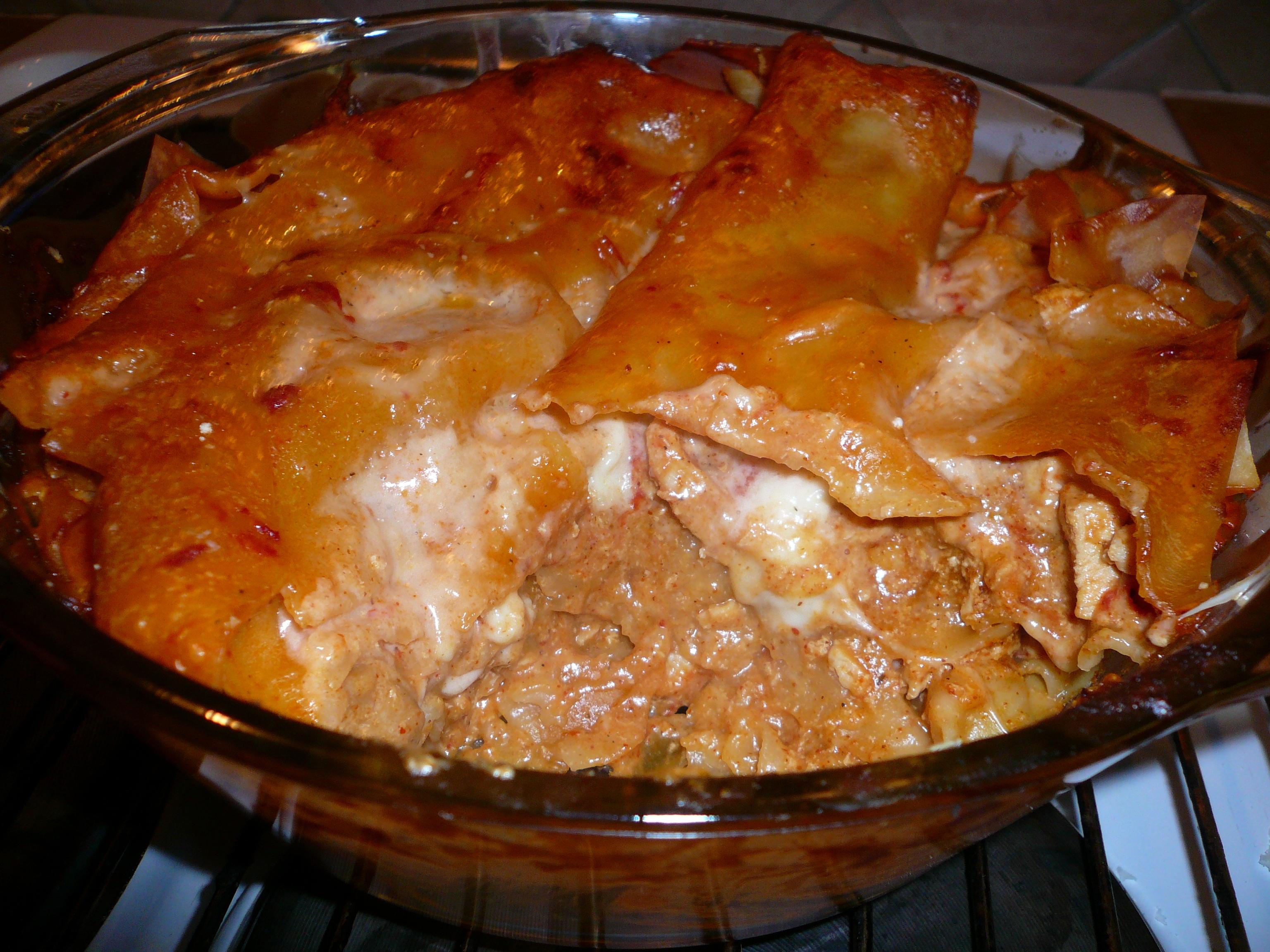 Smulans kycklinglasagne tacostyle