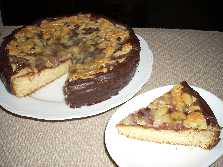 Toscatårta med hallon och choklad