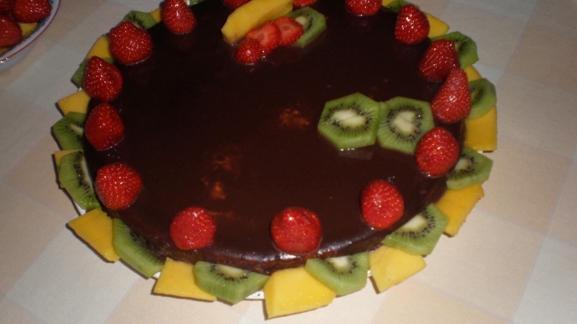 chokladtårta mango