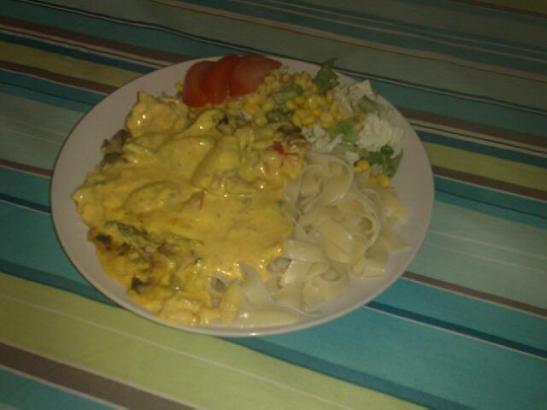 kyckling nudlar mango chutney