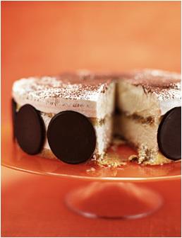 lättfrusen tiramisu tårta