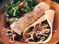 Tortillas med kött och svamp