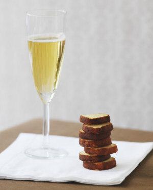 champagne efterrätt