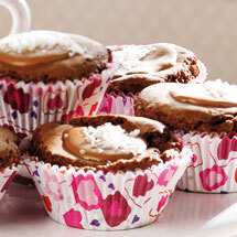 Chokladmuffins med nougattopp