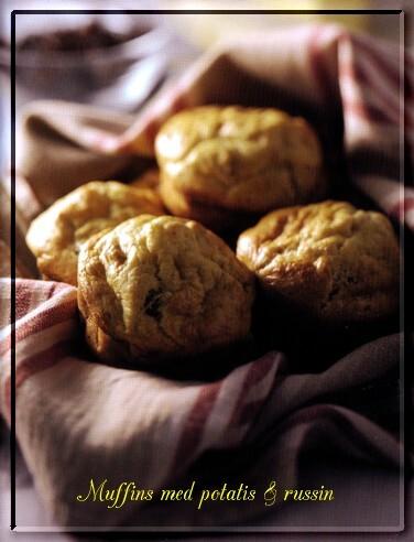 Muffins med potatis och russin