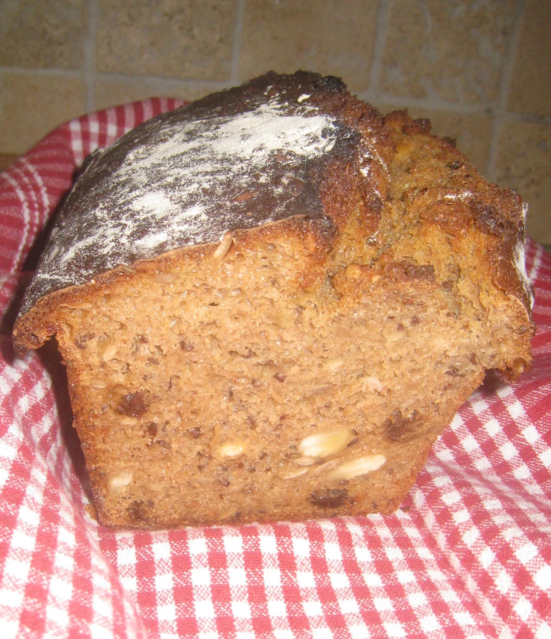 bröd bikarbonat filmjölk sirap solrosfrö linfrö