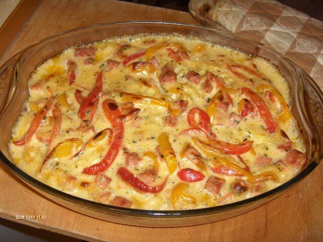 pasta ost skinkgratäng