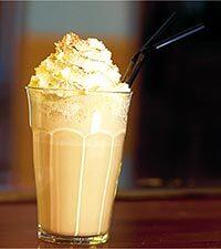 Caffè latte med glass