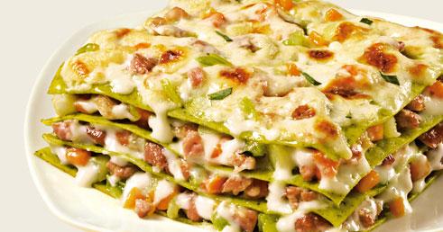Grön lasagne me..