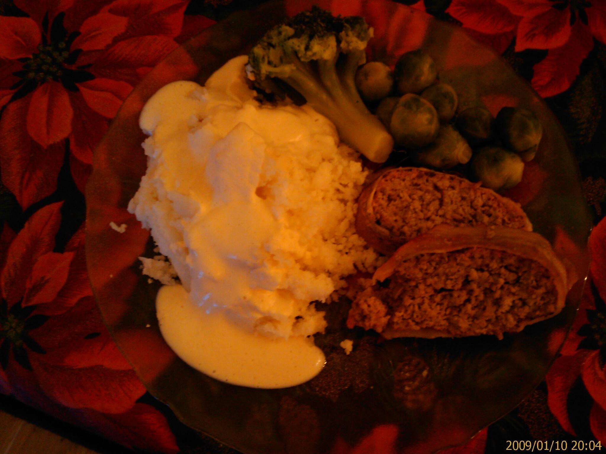 örtkryddad köttfärslimpa