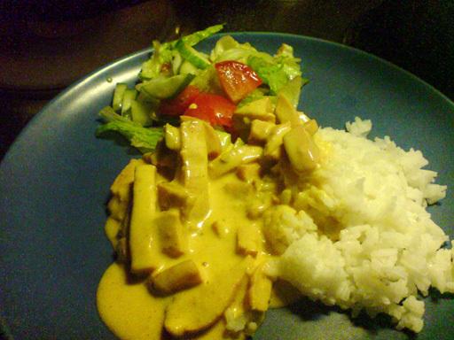 Falukorv i curry