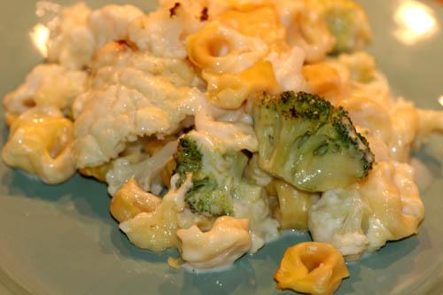 Gratinerad Tortellini med Broccoli & Blomkål