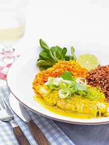 Curryfisk med p..