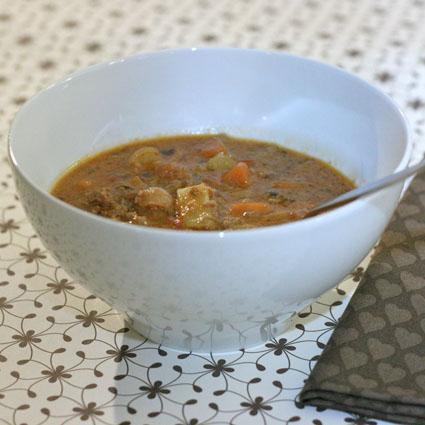 soppa för många personer