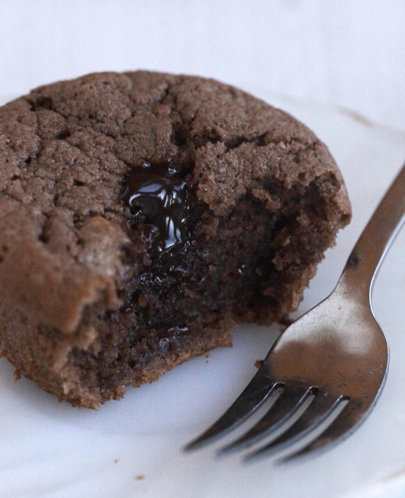 Chokladfyllda chokladmuffins