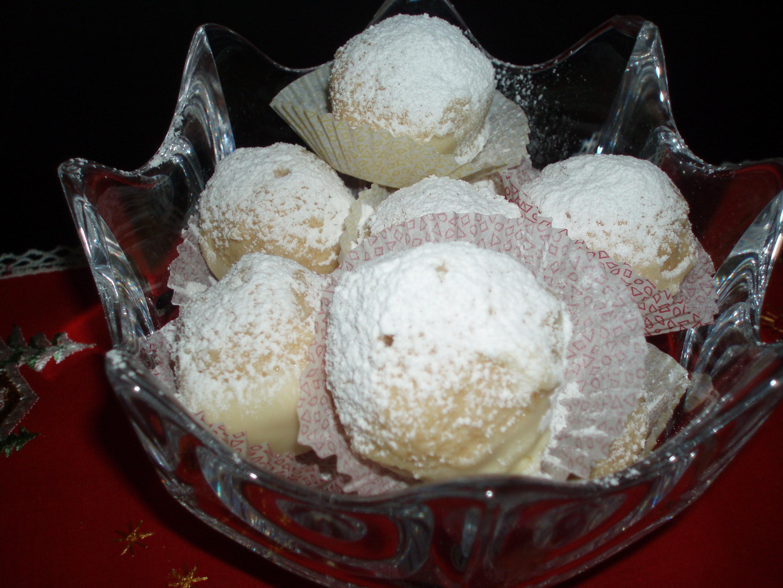 Vita chokladsnöbollar
