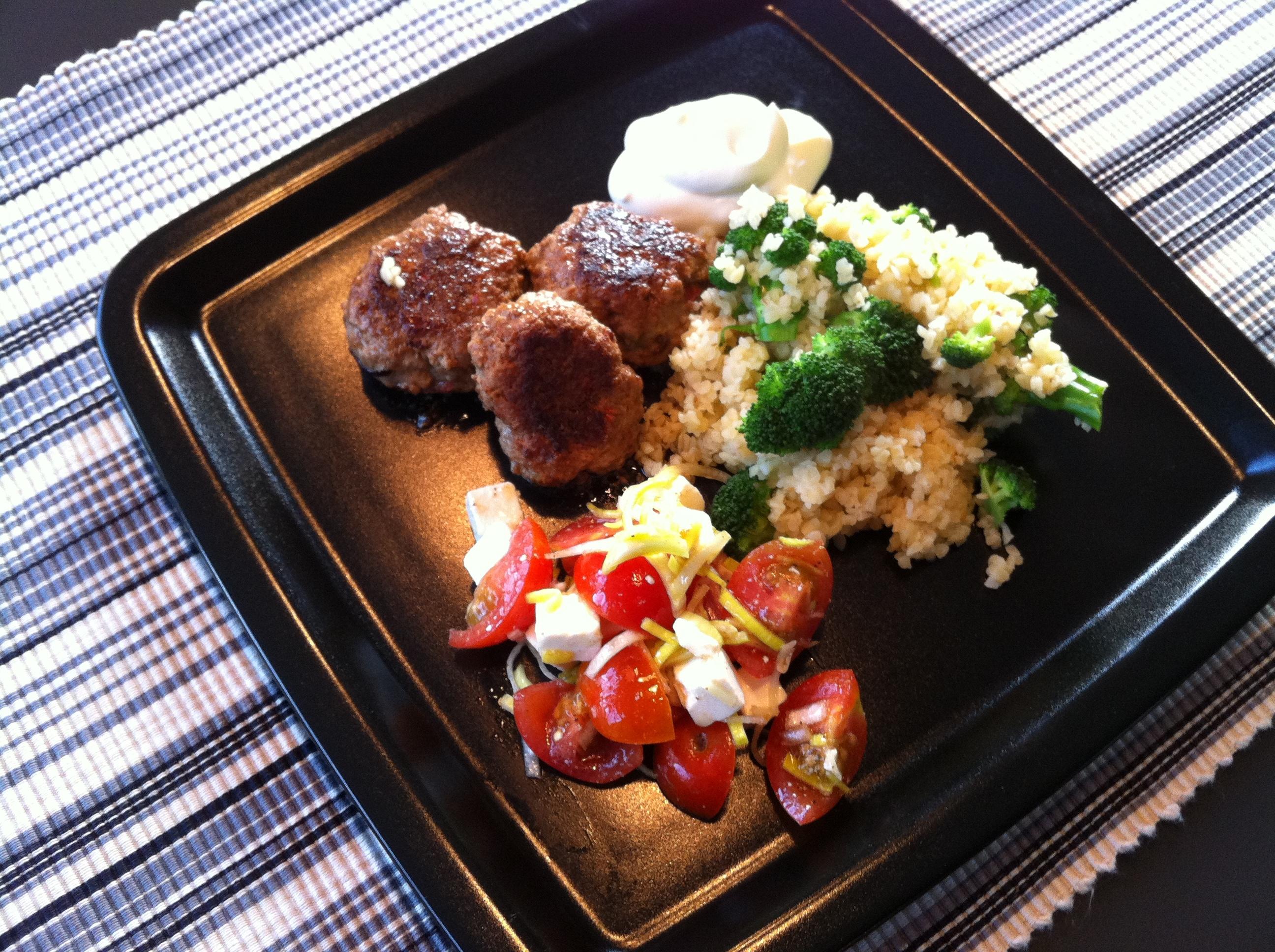 Heta chilibiffar med quinoa och broccoli