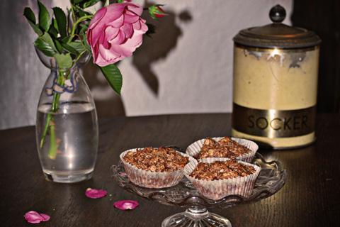 Choklad och havremuffins