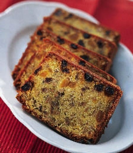 frukt kaka med rom
