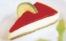 cheesecake jordgubb lime