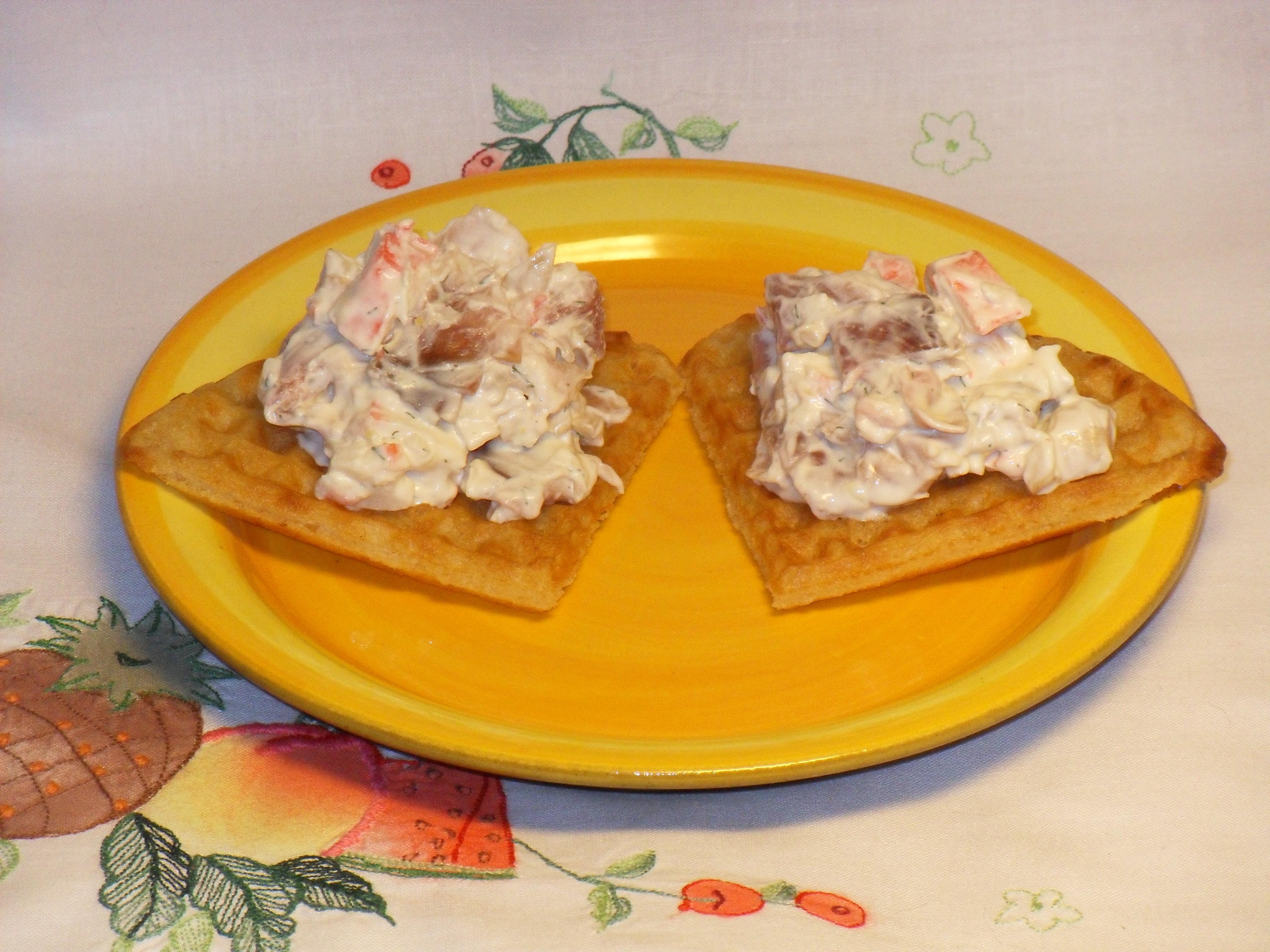 Crabstick- och parmaröra