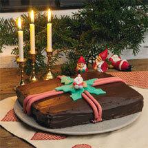 Jultårta med nougat