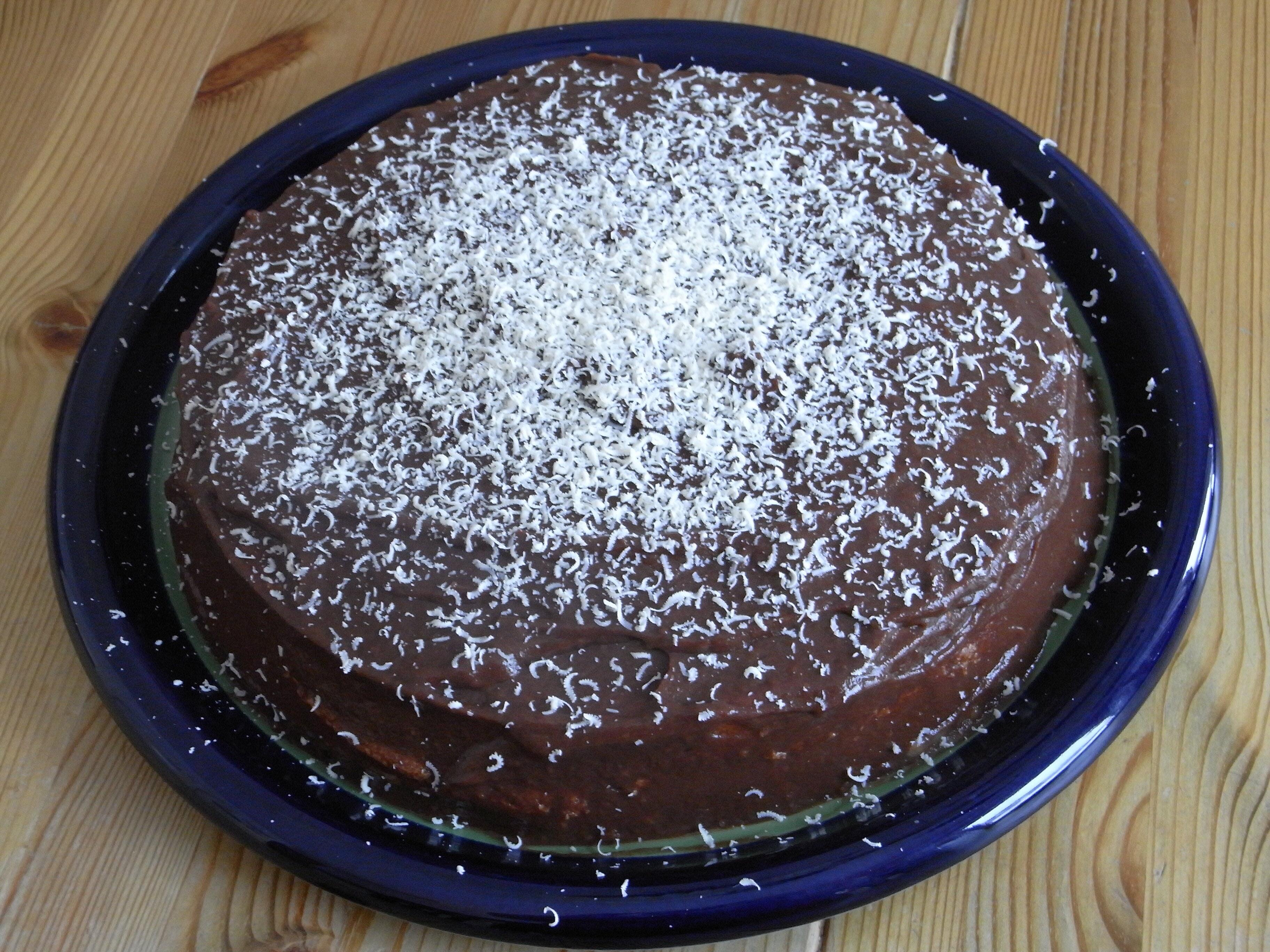 chokladtårta ut..