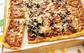 Randiga pizzan